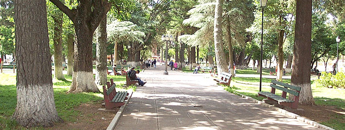 Sonniger Park in Sucre, Bolivia