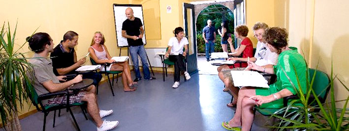 Italienischklasse in Taormina