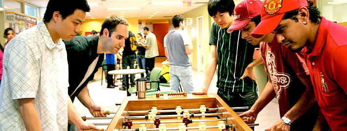 Tischfußball an der Englischschule in Toronto