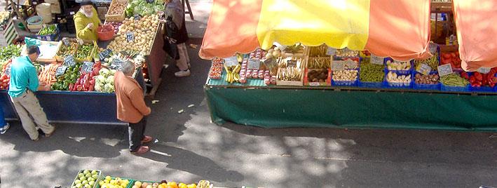 Französischer Markt in Toulouse, Frankreich