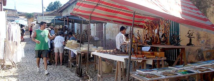 Marktstände in Trinidad, Kuba