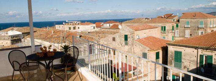 Blick von der Dachterrasse in Tropea