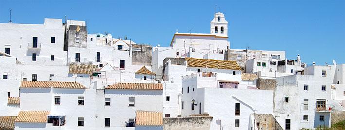 Weiße Häuser von Vejer de la Frontera, Spanien