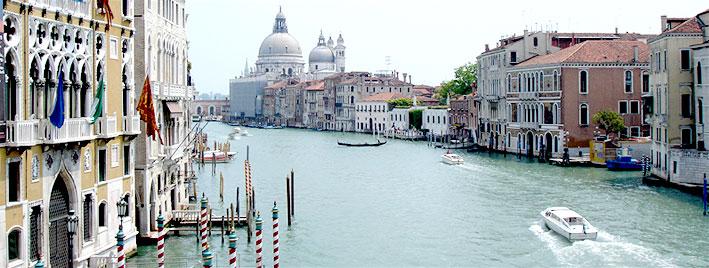 Berühmter Blick auf Venedig, Italien