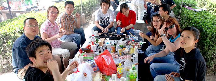 Essen nach Chinesischunterricht in Xi'an