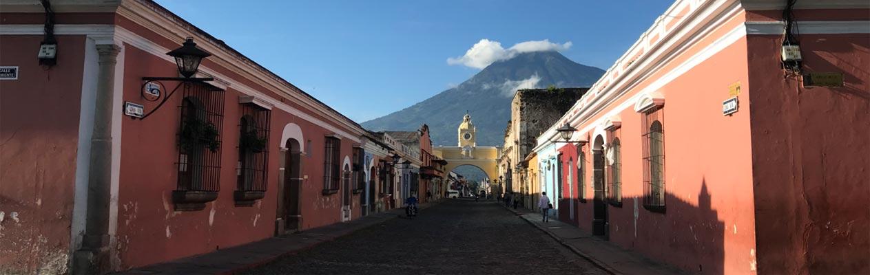 Stadtzentrum von Antigua in Guatemala