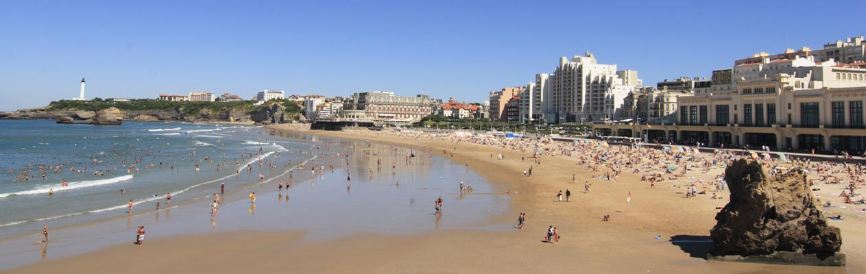 Strand von Biarritz
