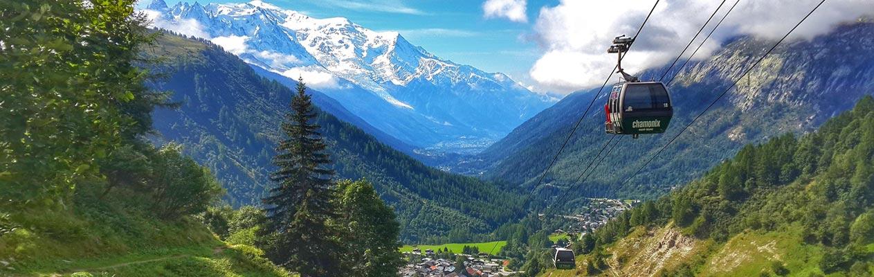 Gondel von Chamonix, Frankreich