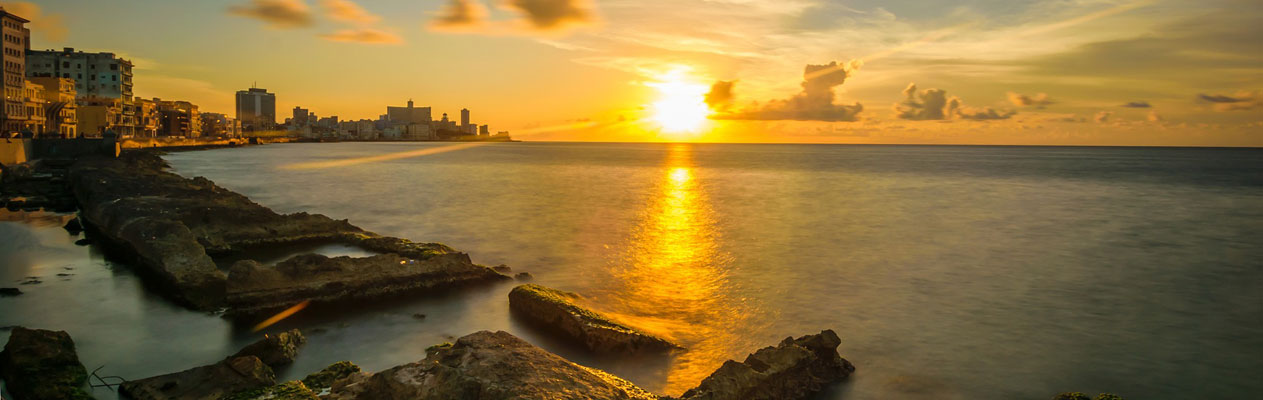 Sonnenuntergang in Havana, Kuba