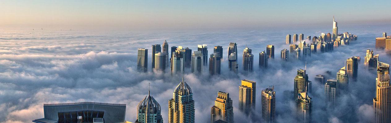 Dubai, eine Stadt in den Wolken