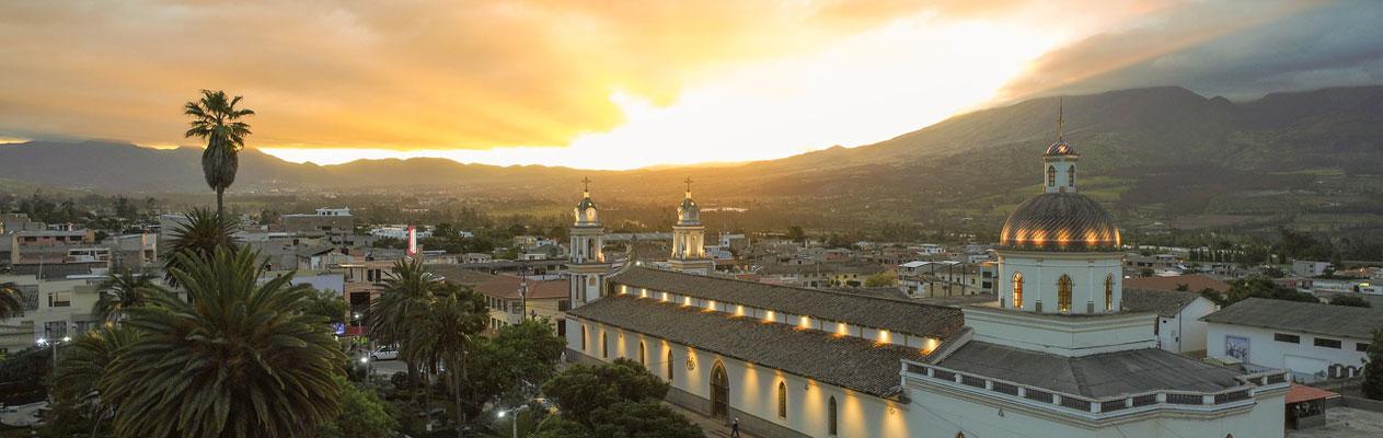Sonnenuntergang in Atuntaqui, Ecuador