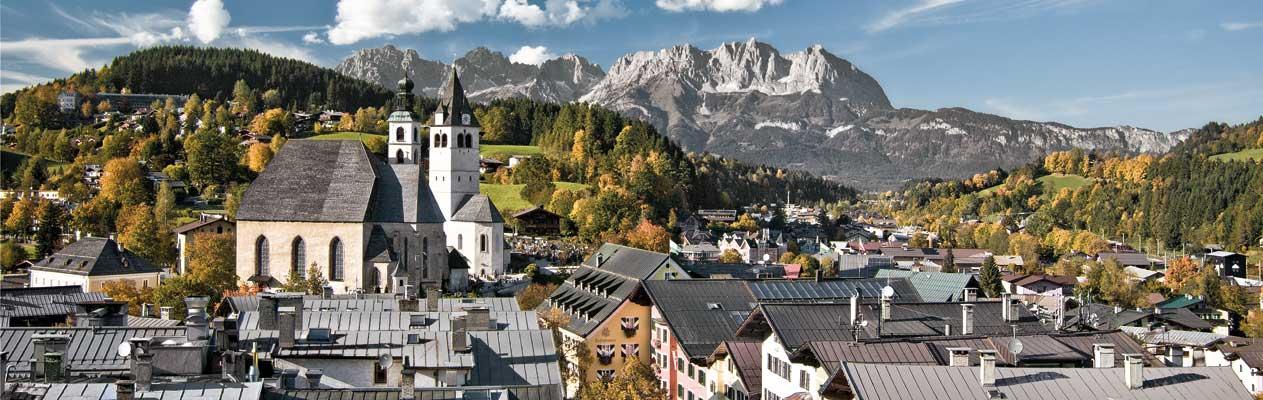 Kitzbühel, Österreich im Sommer