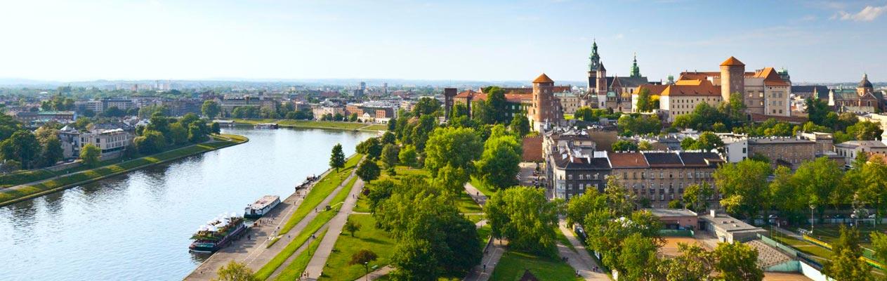 Innenstadt von Krakau, Polen