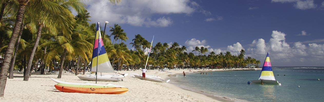 Strand nahe Le Gosier, Guadeloupe