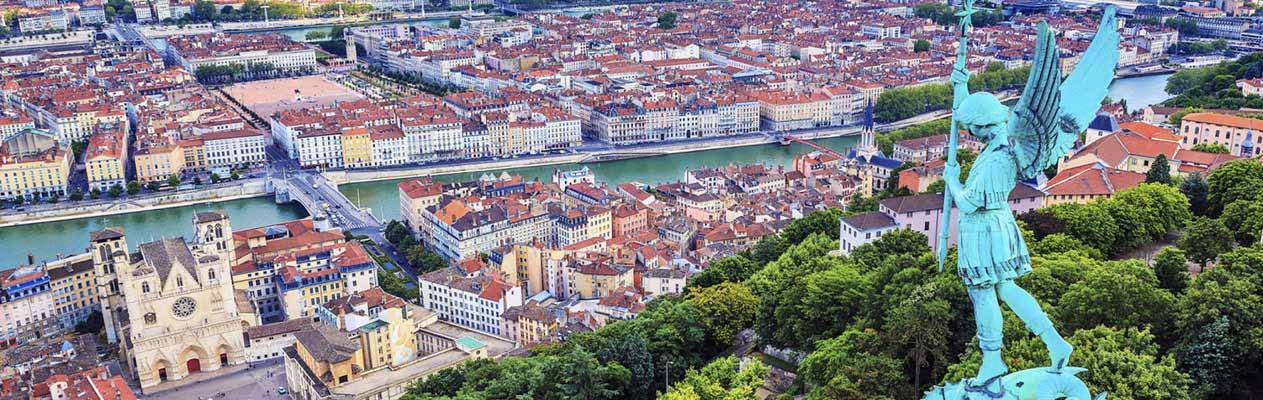 Aussicht auf Lyon, Frankreich