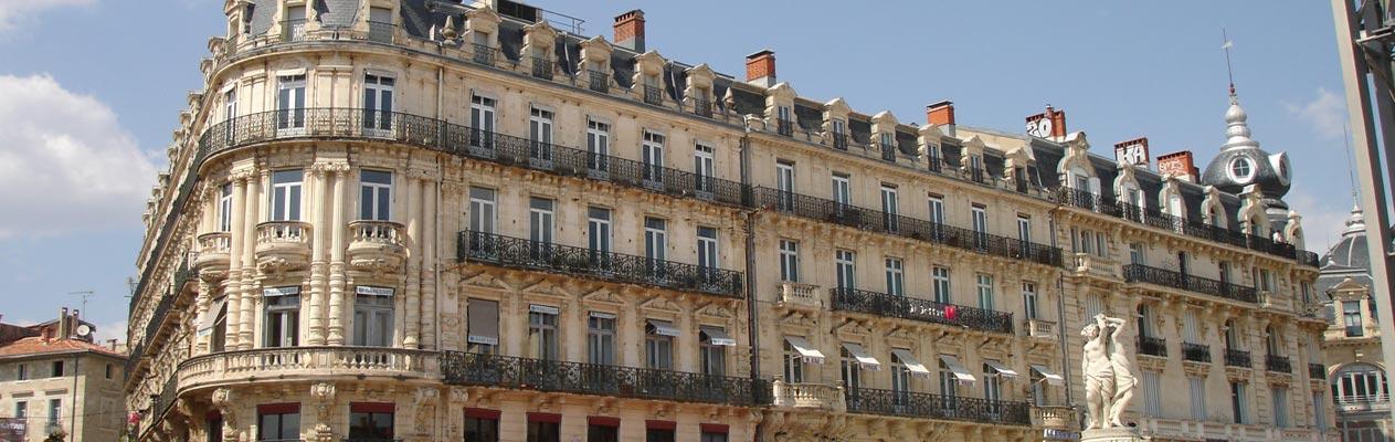 Gebäude Montpellier, Frankreich