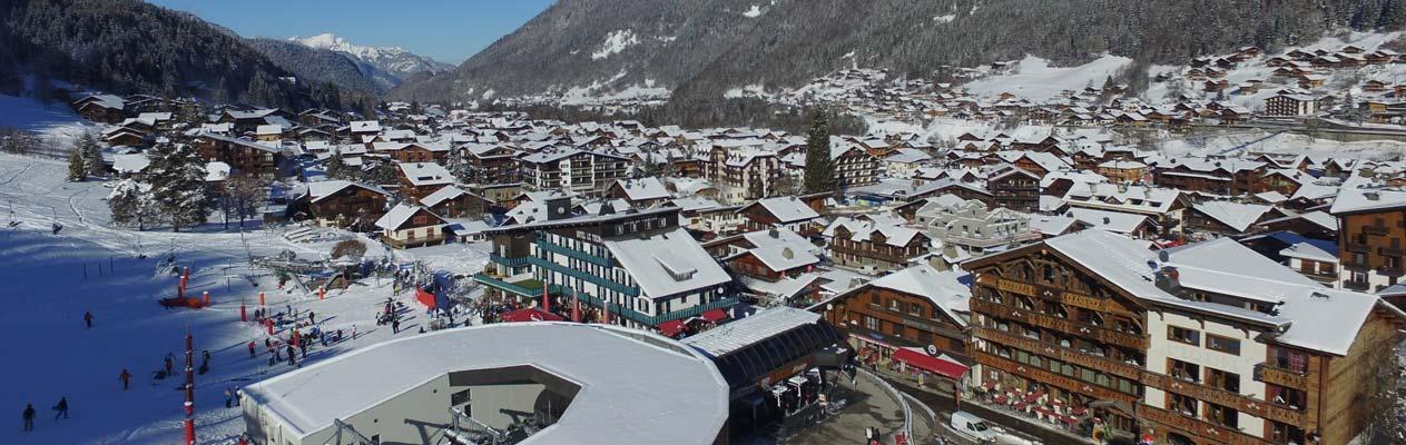 Alpenstadt Morzine, Frankreich