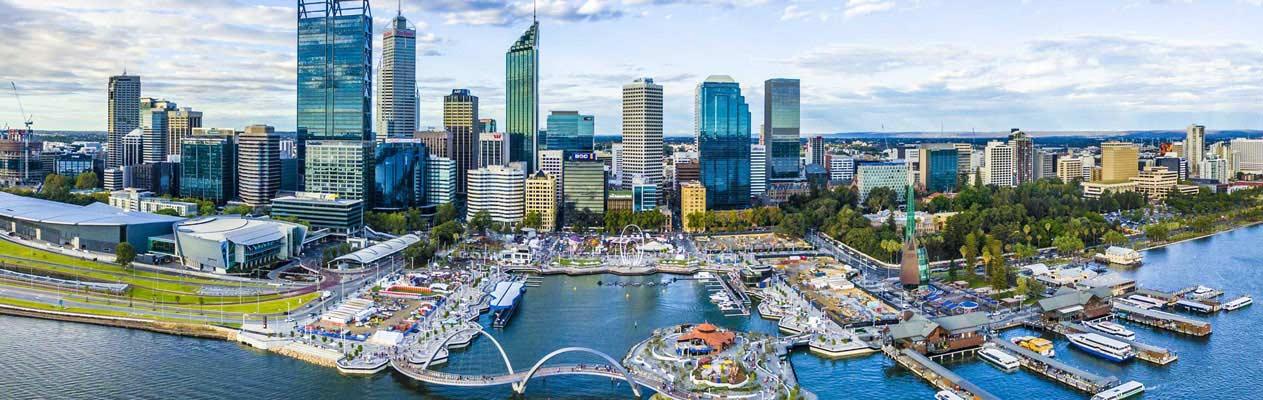 Stadtzentrum von Perth, Australien