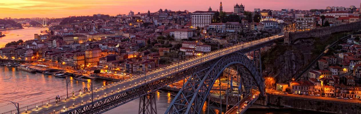 Ponte Dom Luís I in Portos Altstadt