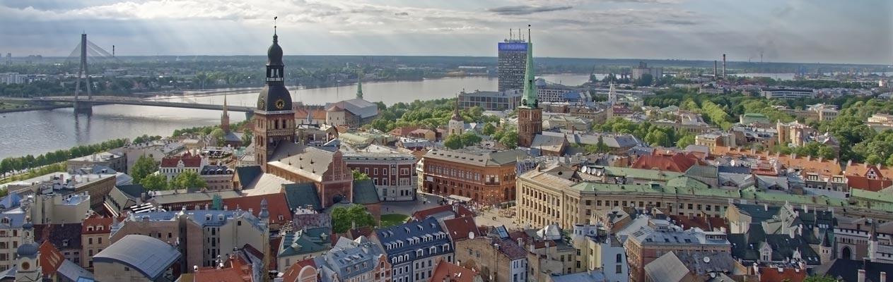 Ausblick auf Riga, Lettland