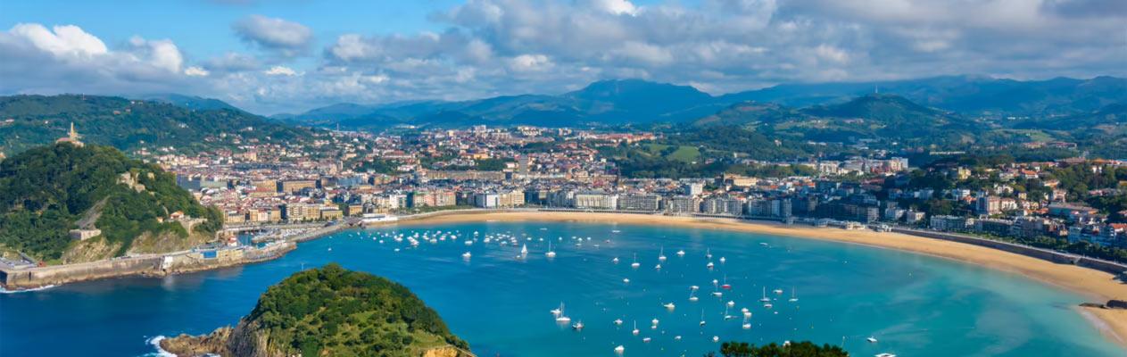 Playa de la Concha in San Sebastián, Spanien