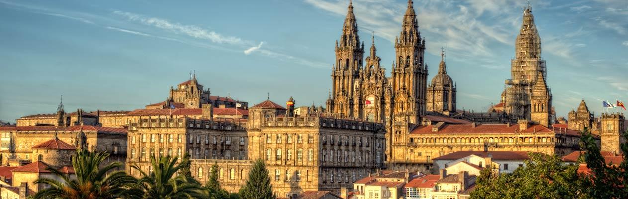 Aussicht auf Santiago de Compostela