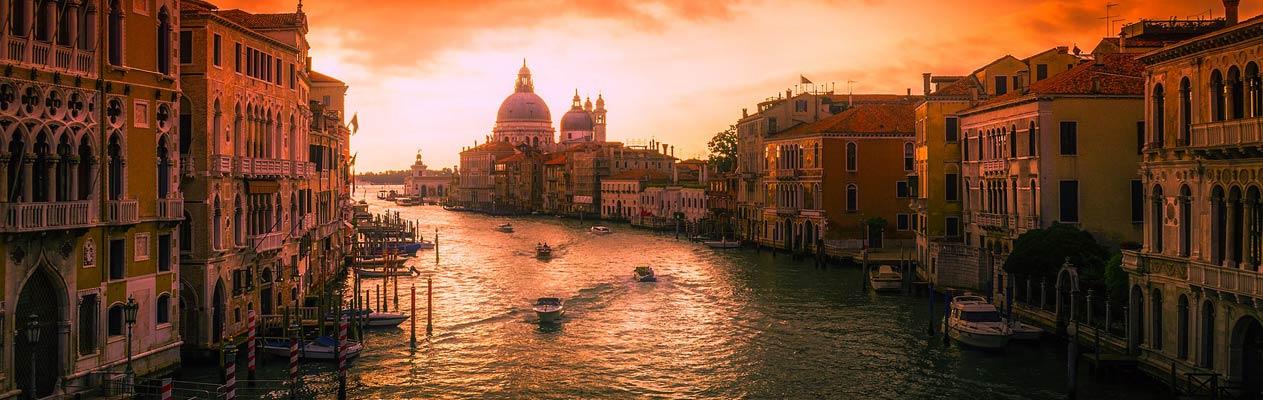 Sonnenuntergang in Venedig, Italien